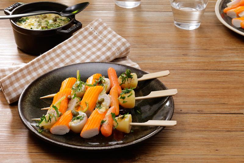Navarin de surimi / sauce gribiche
