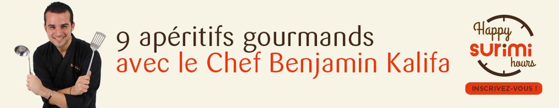 9 apéritifs gourmands avec le Chef Benjamin Kalifa